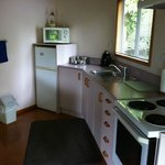 Clean, extremely well-equipped kitchen (each cottage also had a BBQ and outdoor living area)