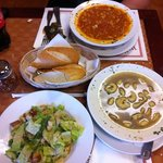 Great soup and Ceasar salad