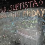 visitors chalkboard