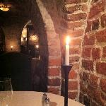 brickwork feels warm in candlelight