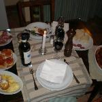  The dinner that was waiting for us upon arrival
