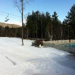 ski in ski out access by blue trails, outdoor heated pool and hot tub