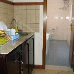 Kitchenette & bathroom