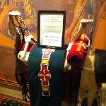 Woman's Elk Horn Saddle Display