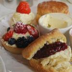 We serve classic afternoon cream teas