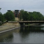 The Cannon River next to THE TAVERN - Northfield, MNit&#39;s close to the pedestrian bridge shown.