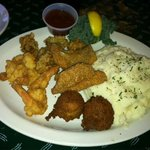 Fried Oyster, Shrimp and Fish was the best