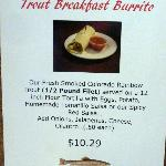Trout Breakfast Burritto