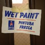 wet paint smell everywhere!!!