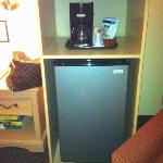 handy fridge in room
