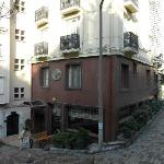 The hotel is small, and tucked away on a tiny side-street.