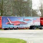 Red Arrows support Truck