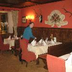  Dining room and staff member