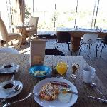 Delicious breakfast at the new dining area  - Corazon de Tierra