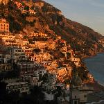 The sunset over Positano is beautiful but a fairly long and uncomfortable drive from the Agritur
