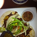 street tacos... 4 different proteins, all different styles, all awesome!