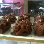  Brownie con dulce de leche