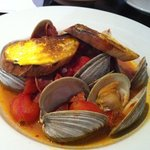 Portuguese clams with chorizo - appetizer