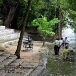 take few steps to the river Cauvery