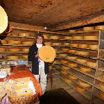 In the cheese hut, the farmer who I bought milk, cheese, sausage and beef from.