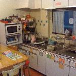 hostel kitchen