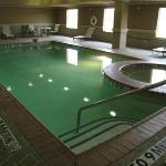  Interior view of murky pool.