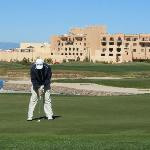  My husband playing at Towa Golf Resort