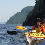 sea kayak on the Saguenay fjord