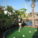 Most fun ever playing mini golf.