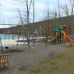 children's playground by the lake
