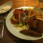 Chicken goujons in the restaurant!