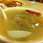 salted vege with duck soup