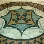 Marble Inlay at entrance of hotel