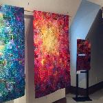 3rd floor exhibit of art quilts by Carol Taylor
