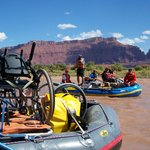 Adaptive rafting down the Colorado River.