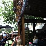 Tin Lizzie outside patio 4 blocks from Homewood Suites