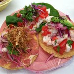 a sampling of the tostadas. SO FRESH!!