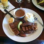 Bandeja Paisa - one of their specialties - a Columbian experience