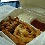 fried crawfish plate