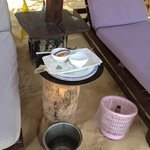empty plates left at beach for 24 hours
