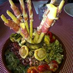 Easter lunch antipasto