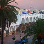 View from my room of Rabat Train Station next door to hotel.