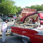 A very nice Historic Car Show by Coe Lake Boardwalk & Fountain Park in the city of Berea