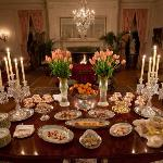 Dessert Buffet in the Music Room at Blantyre