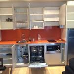 clean and modern kitchen, if planning to stay more than 1 night on a cooking, need to bring pots