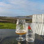  Pint in front of the sea