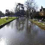  River through Bourton on the Water, early on a Sunday