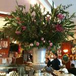  Fresh flower arrangement with peonies and lilies at Bar Papagallo