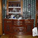 beautiful buffet station in dining area, with sterling service, GREAT selection of teas availabl
