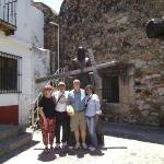 Group picture in TAXCO, amongst self-penitence bronzes, Rosie is on the right!